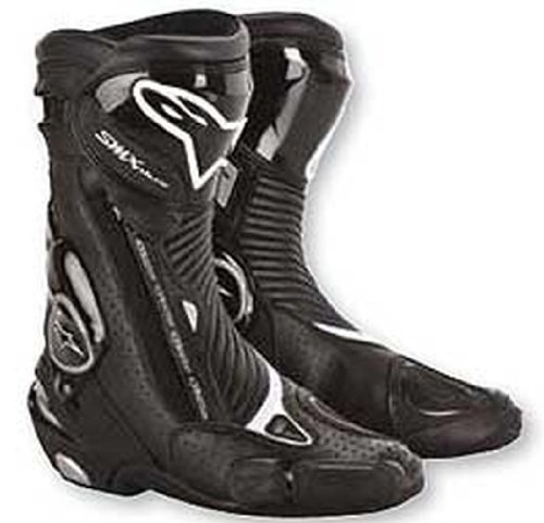 Alpinestars SMX Plus Boots , Gender: Mens/Unisex, Distinct Name: Black, Primary Color: Black, Size: 5 2221013-10-38