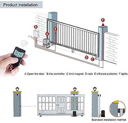Motorización para puerta corredera, motor de las puertas correderas con mando a distancia y llave eléctrica: Amazon.es: Bricolaje y herramientas