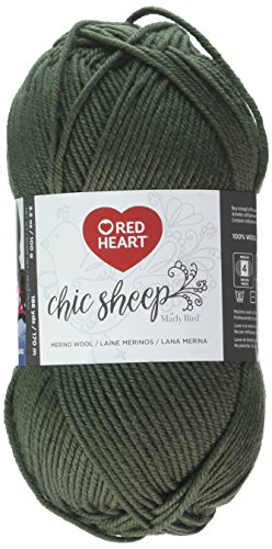 Red Heart Chic Sheep Marly Bird, Velvet Yarn,
