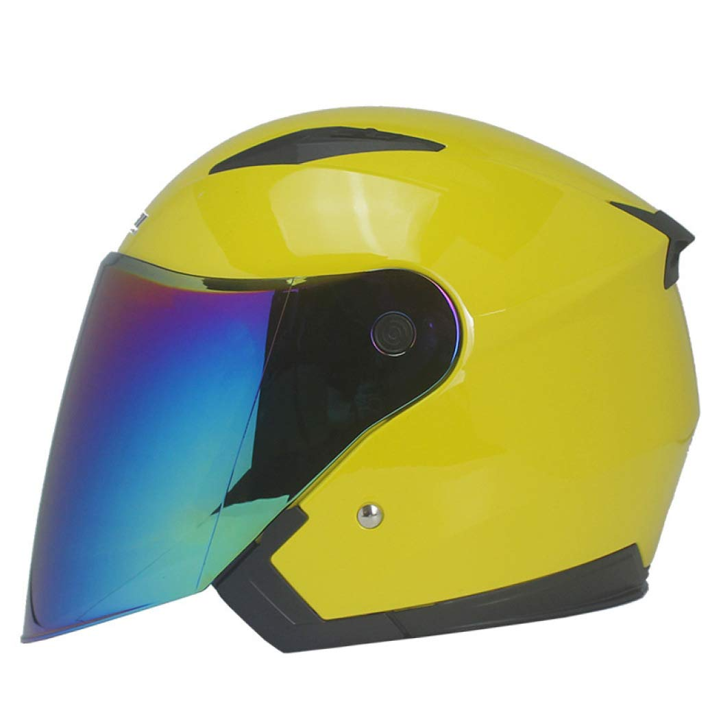 OLEEKA Motorradhelm Unisex Roller Motos Helm Casco Capacete Mit Doppelscheibe Visier Motorr/äder Helme