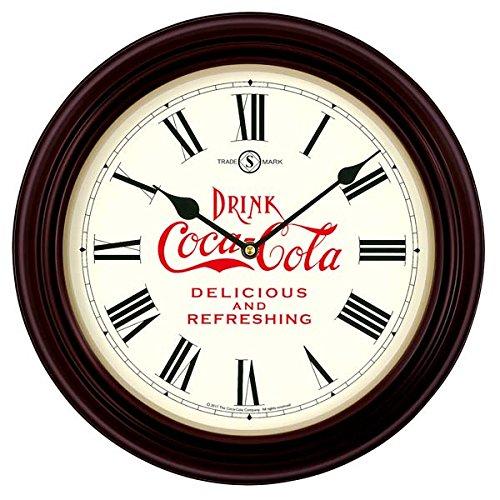 Coca-Cola(コカコーラ) SEIKO(セイコー)ビンテージクロック 木枠電波時計 (250台限定) B06ZXZS3V2