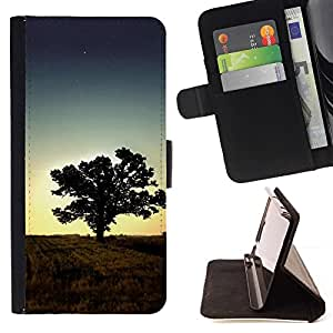Momo Phone Case / Flip Funda de Cuero Case Cover - Puesta de sol Beautiful Nature 1 - HTC DESIRE 816