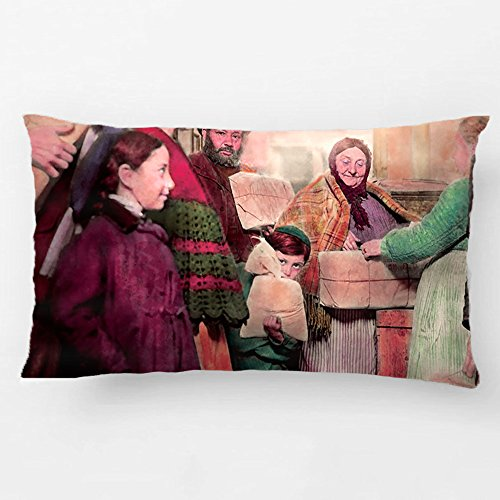 ALEX Throw Pillow Case Decorative Cushion Cover Cotton Polyester Chair Rectangle Pillowcase Design With Jewish - Food For The Less Fortunate Custom Pillow Case Print Double Side Sized 12X20 Inches