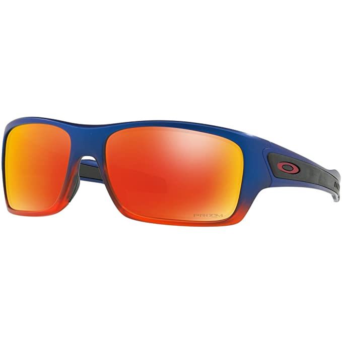 66d8751801 Oakley Men 's turbina non-polarized Iridium rectangular anteojos de sol,  Naranja Pop