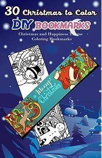 Buy 30 Christmas To Color Diy Bookmarks Merry Christmas Theme