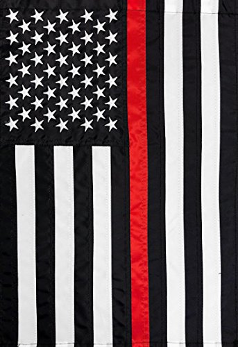 Briarwood Lane Thin Red Line Embroidered House Flag Firefighter 28