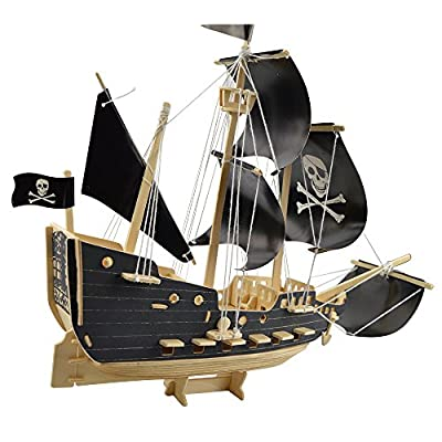 Smilelove 3D Wooden Puzzle Sailing Ship