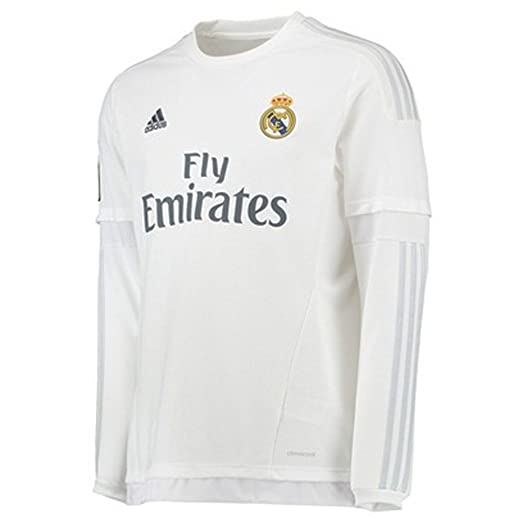 ad5217b7fed Amazon.com  Adidas Benzema  9 Real Madrid Home Jersey 2015 Long Sleeve   Clothing