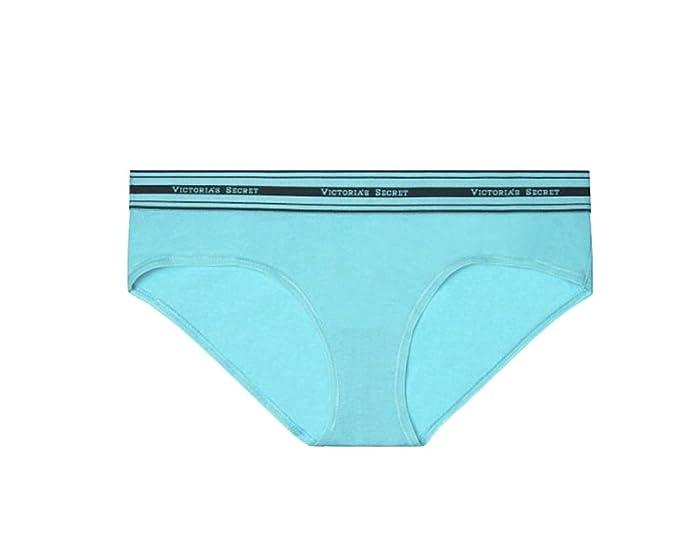 ff65fb94667 Victoria s Secret Women s Cotton Lingerie Logo Hiphugger Panty Medium Cool  Springs