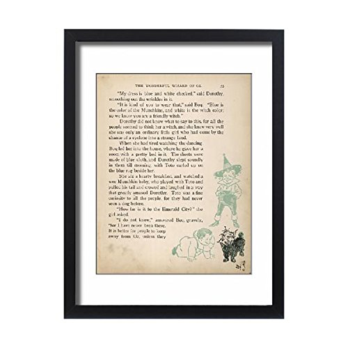 Wizard Oz Munchkin Pictures (Framed 24X18 Print Of Wizard Of Oz/munchkins (4347474))