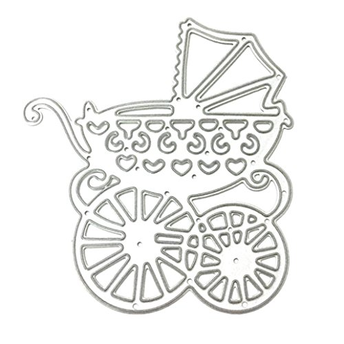 Vanvler 2018 New Arrival DIY Metal Cutting Dies Scrapbooking Stencils Embossing Crafts Life Theme (C Baby Carriage)