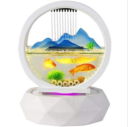 Mini Desktop Fish Tank Fuente De Rocalla De Acuario Decoraciones para El Hogar Creativo Sala De