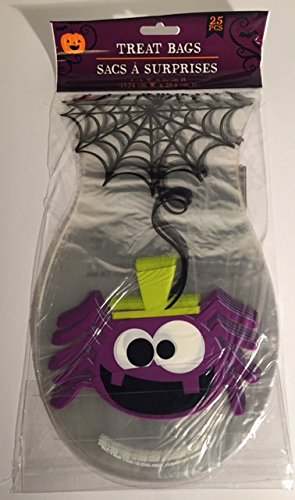 Spider and Spider Web Treat Bags 6in x 10in 25 Pieces (Halloween Treat Bags Walmart)