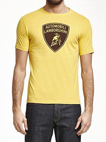 Lamborghini Yellow Shield Logo Tee Shirt (X-Large) (Lamborghini Shirt)