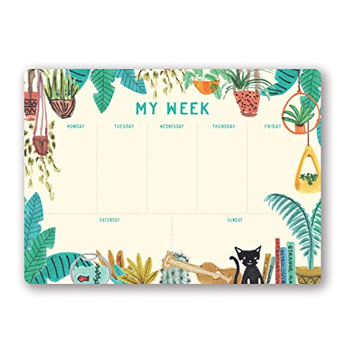 (Studio Oh! Undated Weekly Desk Pad Available in 4 Designs, Justina Blakeney Holiday at Home)