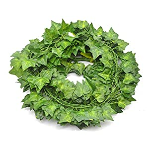 Fake Vines Ivy Leaves Garland 24 Strands-168Ft Artificial Plants Greenery Garland Faux Green Hanging Plant Flowers Vine for Wall Party Wedding Room Home Kitchen Lndoor & Outdoor Decor 2