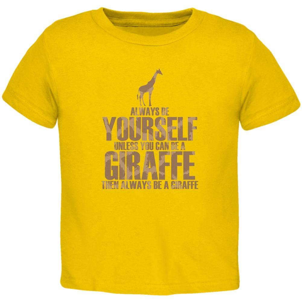 Always Be Yourself Giraffe Toddler T Shirt