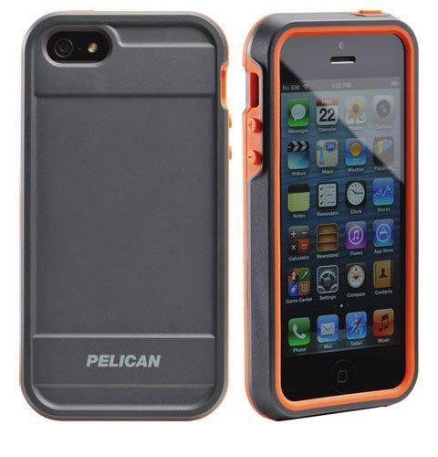 best authentic 838e8 541ef Pelican ProGear Vault Series for iPhone SE 5/5s - Retail Packaging -  Black/Orange