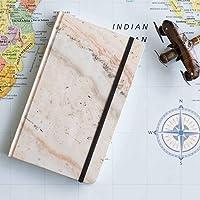 Cuaderno mediano mármol rosa interior líneas pasta suave