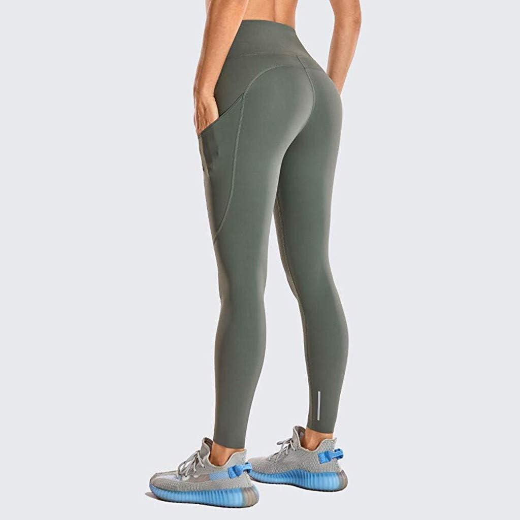 XNBZW Damen Leggings mit hoher Taille/Und Enge Fitness Yogahosen Nude versteckte Tasche Yoga-Gamaschen Sporthosen Super f/ür Fitness Laufen Yoga Workout