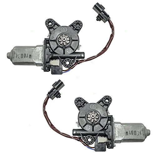 Driver and Passenger Front Power Window Lift Regulator Motors Replacement for Hyundai Santa Fe 98810-26100 98820-26100