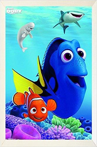 FRAMED Disney - Finding Dory - Dory 34x22.5 Movie Art Print Poster ...