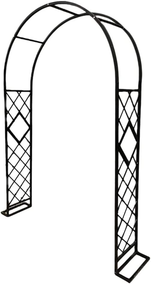 YYXA Garden Archs Metal, Outdoor Flower Trellis Durable Garden Arbor for Climbing Plants, for Garden Wedding Party Decoration, 230 cm High X 140cm Wide