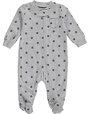 Carter's Baby Boys' Cotton Sleep and Play (6 Months, Grey)