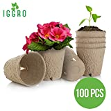 buy IGGRO Peat Pots Set 100 pcs Bio-Degradable 3