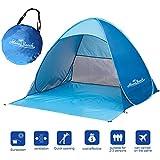 Monobeach TM Portable Outdoors Quick Cabana Beach Tent Automatic Pop Up Sun Shelter