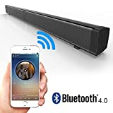 EWEMOSI Sound Bar Wireless Bluetooth 4.0 with 4 Subwoofers - Clear Sound Remote Control Wall Mounting - Home Theater Stereo Audio for TV/Mobile Phone/Computer