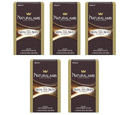 [Trojan Naturalamb ueLMF Lubricated Condoms, 10 Count (5 Pack)] (5 Condoms)