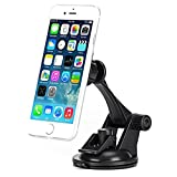 Premium Magnetic Car Mount Dash and Windshield Holder Window Rotating Dock Stand Strong Grip Adjustable Suction for Net10 LG Optimus Logic - Net10 LG Optimus Net - Net10 LG Optimus Q