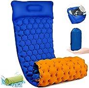 Camping Sleeping Pad Inflatable Sleep Mat Ultralight Light 650G Waterproof Air Camping Mat for Backpacking, Hi