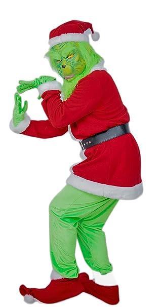 Nexthops Grinch Disfraz para Navidad Costume Adultos Traje Completo Verde para Espectáculo y Escenario Halloween Fiestas como Grinch Robó la Navidad: ...