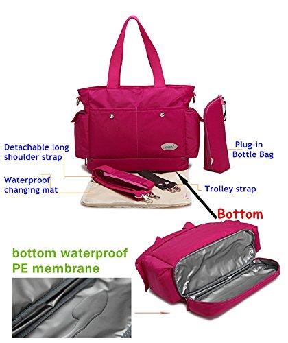 A prueba de agua función atril y easyworld para pañales de en los cambios de bolsa para la compra de la momia bolso infantil para el hombro bolsa de pañales en los cambios de bolsa de palos de mochila verde