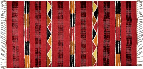Handwoven Egyptian Tribal Kilim Rug – 100% Wool – Handmade Runner Kilim Rug with Bright, Vivid Colors – Made by CraftsOfEgypt - Size: 2.3x4.5 ft ( 70x140 cm ) 100% HIGH QUALITY WOOL: This Egyptian kilim rug is made from high quality animal wool. It is 100% natural and does not contain any artificial fabric whatsoever. You are guaranteed an authentic product with every purchase. UNIQUE HANDLOOMED KILIM RUG: Our Egyptian rug is hand loomed for a unique look. Every rug therefore is given the attention it deserves, ensuring that the weaves will always lay flat and not curl on the ends. - living-room-soft-furnishings, living-room, area-rugs - 51hSp50Z3vL -