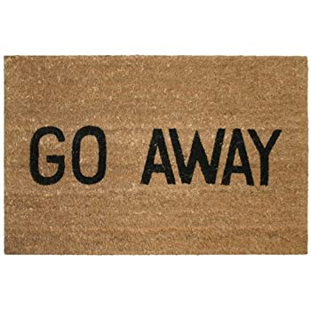 Kempf Go Away Doormat, 16 By 27 By 1 Inch