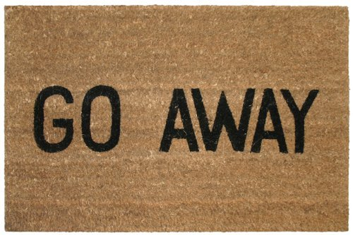 Kempf Go Away Doormat, 16 by 27 by 1-Inch (Mat Christmas Coir Door)