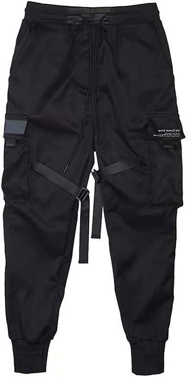 Diirm Pantalones Cargo Para Hombre Cintas Harem Joggers Pantalones De Hip Hop Harajuku Pantalones Deportivos Amazon Es Ropa Y Accesorios
