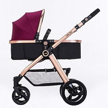 subbye cochecitos bebé cochecito de verano puede Sit Lie Down bidireccional alta paisaje de carritos ligero