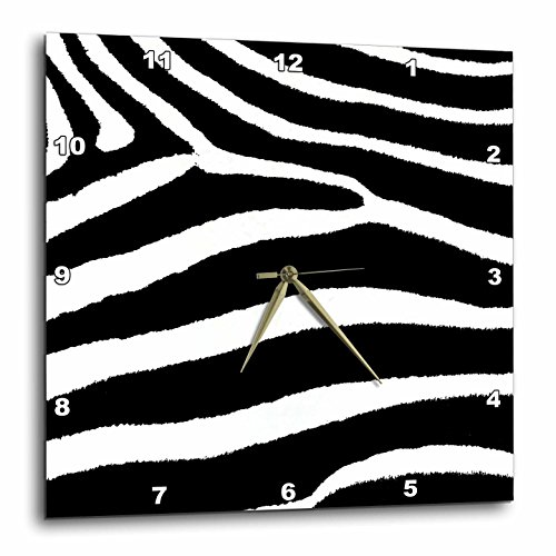 3dRose DPP_44184_1 Black & White Zebra Print Wall Clock, for sale  Delivered anywhere in USA