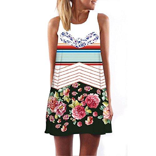 WNDSYN New Summer Dress Sleeveless 3D Print Casual Women Dress Women Short Beach Mini Dresses 78 XL
