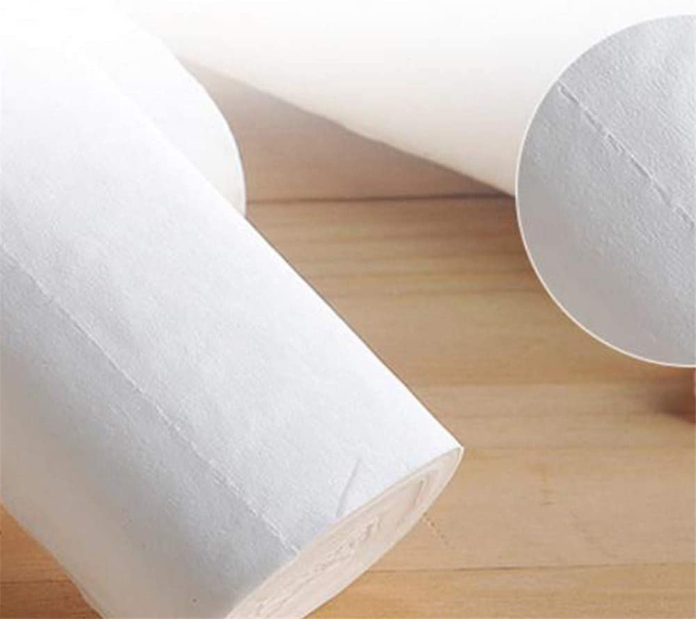 TOPQSC Recycled Fiber Paper Towels Multifold Family Towels Per Rolls 12 Rolls