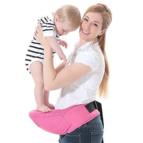 2227e115790a ThreeH Porte-bébé Ceinture de taille porte-sièges extérieur pour enfant  BC10,Pink