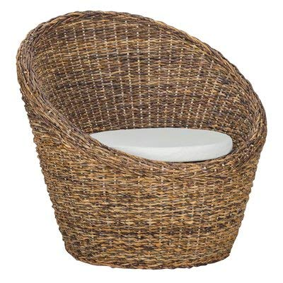 Wicker Accent Chairs.Amazon Com Wicker Accent Chair With Recessed Arms Handwoven