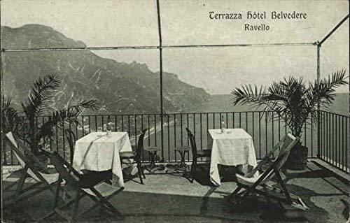 Hotel Belvedere - Terrazza Ravello, Italy Original Vintage Postcard