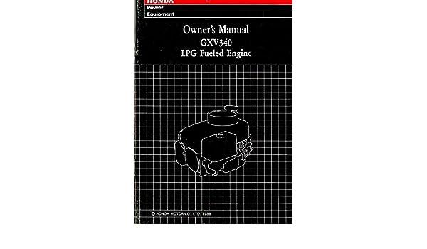 honda gxv340 repair manual