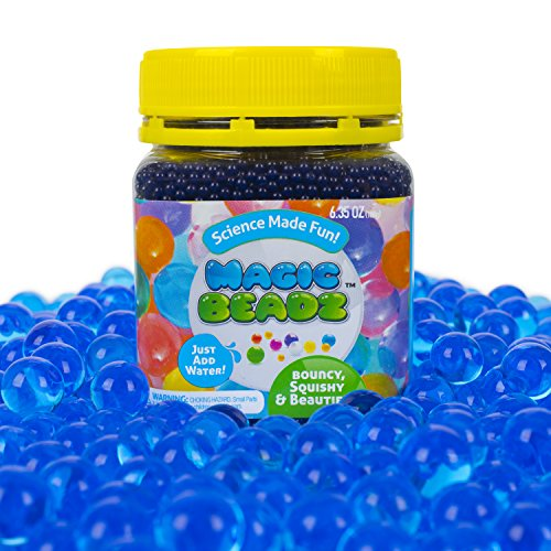 Magic Beadz - Blue Gel Water Beads - Transparent Jelly Pearls - Vase Filler - Wedding Centerpiece - Candles - Flower Arrangements - Over 20,000 Beads