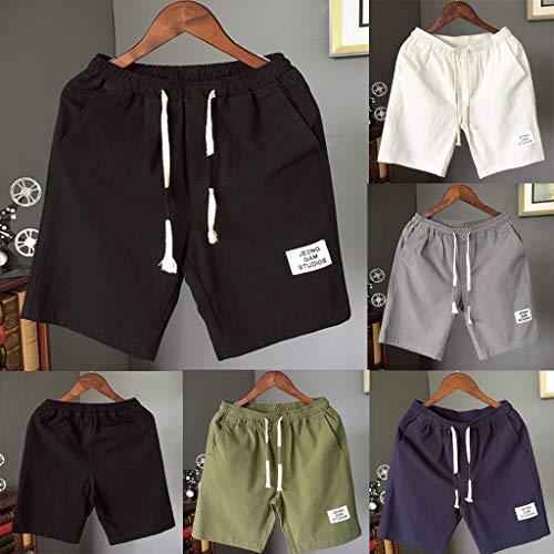 Shorts Taille Sport De Short Décontracté Blanc Homme Loose Calecon Vetement Plage Haute Natation La Pants Bain Mode Jogging dqxzRO